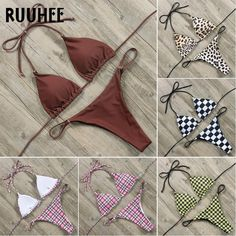 5f4dce9745 RUUHEE Bikini Women Swimsuit Solid Bikini Set Push-up Padded Swimwear  Summer Bathing Suit Adjustable Swimming Suit biquini 2018