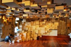 not helpful, but awesome    From an Apartment Full of Cardboard Boxes, a Massive Work of Art - Design - The Atlantic Cities