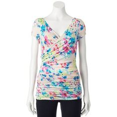 Candie's® Ruched Wrap Top - Juniors