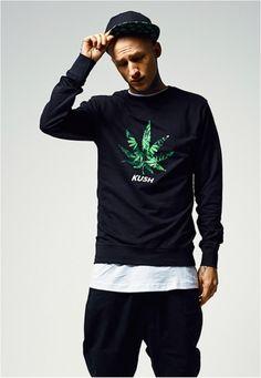 Kush Crewneck Sweater - Portofrei bei Rudestylz #fashion #kush #420 #weed #ganja #sweater #crewneck #cannabis http://www.rudestylz.de/kush-crewneck-sweater.htm