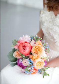 rainbow. Bouquet coloratissimo - flower designer Fleur - flowes - colors - wedding