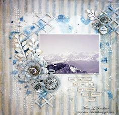 Gorgeous Creation by Mona Pendleton for the Simon Says Stamp Monday challenge (Up In the Clouds)