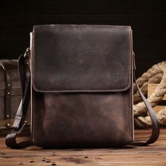 2d7e28f411 NEWEEKEND Retro Casual Genuine Leather Cowhide Crazy Horse Anti-theft  Shoulder Messenger Crossbody iPad Bag for Man Male 8069. Sac ...