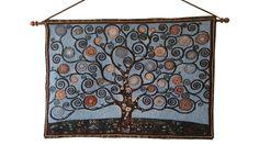 Wandkleed Healing Heart Tree Blue