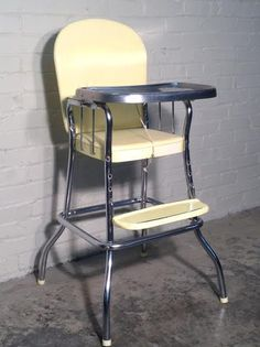 retro high chairs babies add on headrest for office chair 115 best 1950s vintage images children furniture mid century cosco stainless steel tray