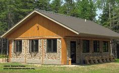 Stackwall / cordwood / kubbhus