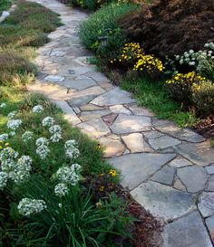 find this pin and more on homedesign - Flagstone Walkway Design Ideas