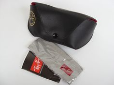 Authentic Black Ray-Ban Luxottica Sunglasses Soft Case with Cleaning Cloth