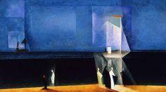 Lyonel Feininger (German/American, 1871-1956),Blue Marine, 1924 Oil on canvas