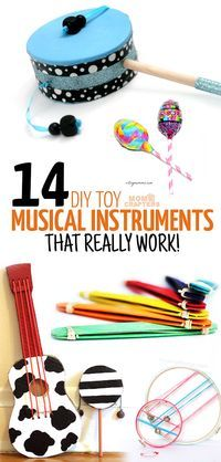 I am obsessed with how simple and easy these DIY musical instruments are to make! They are all great crafts for kids and DIY toys for moms to make, and great kids activities for music and movement.