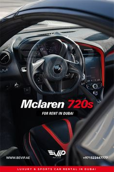 Mclaren 720s, the undisputed king of exotics !! The McLaren 720S Spider is so easy to drive and so comfortable that it's hard to think of a supercar better suited to daily driving. Mclaren 720 for rent in Dubai. Come and experience a sporty ride with with it. Pre Bookings Available. Call +971522447777 Luxury Sports Cars, Dubai, Better Suited, Supercar, Spider, Sporty, King, Easy, Spiders