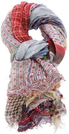 Faliero Sarti Multicolor Patchwork Scarf http://www.lyst.com/accessories/faliero-sarti-patchwork-scarf-multicolour/