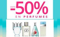 Hasta un 50% de descuento en perfumes en Paco Perfumerías