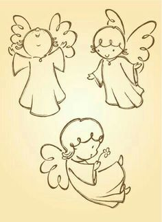 Variation of angel poses. Traced from my hand drawn artwork, properly… Variation of angel poses. Traced from my hand drawn artwork, properly grouped with high resolution jpg. Visit portfolio for More Valentines Series Lightbox Angel Sketch, Angel Drawing, Drawing Hands, Engel Illustration, Illustration Vector, Vector Art, Christmas Rock, Christmas Angels, Christmas Crafts