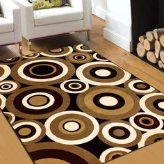 "AllStar Rugs Carved Circles Modern Geometric Area Rug. Size: 7'9"" x 10'5"""