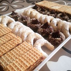 Christmas cookies Croatian Cuisine, Croatian Recipes, Christmas Cookies, Waffles, Dishes, Baking, Breakfast, Food, Xmas Cookies