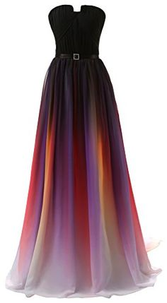 Eudolah Women's Long Chiffon Gradient Strapless Formal/Evening Dresses ** To view further, visit http://www.amazon.com/gp/product/B01C56JCJ6/?tag=ilikeboutique09-20&yx=040816004021