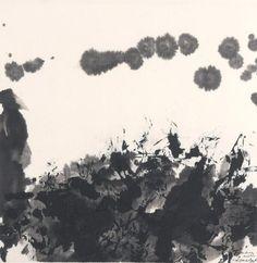 Zao Wou-ki (1921-2013), Composition, lavis et encre de Chine, daté 1986 et dédicacé «pour Anne, amitiés», 34 x 34 cm.  Adjugé : 32 032 € Vendredi 9 février, salle 4 - Drouot-Richelieu.  Lasseron & Associés OVV. Cabinet Chanoit.