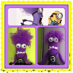 Crochet evil minion by Leejaycherry Crochet Gifts on facebook.