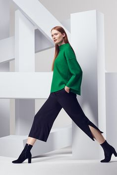 Our current crush is this bright green Autumn knit by Tara Jarmon.