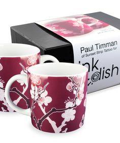 Tattoo style painting #blossoms #mugs