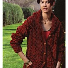 HOODED CABLED COAT   Vogue Knitting Fall 2008 #27  By Mari Lynn Patrick