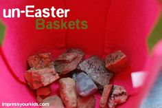 I love this tradition--making Easter baskets tell the story of Jesus!