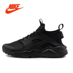new products 9645d 2841a Intersport Original NIKE New Arrival AIR HUARACHE RUN ULTRA Men s  Breathable Running Shoes Sneakers classic Tennis