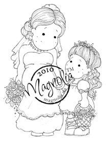 The Rubber Buggy  - Magnolia BRIDE AND BRIDESMAID Rubber Stamp, $13.99 (http://www.therubberbuggy.com/magnolia-bride-and-bridesmaid-rubber-stamp/)