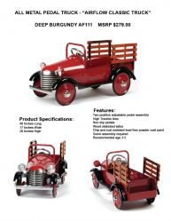Airflow Collectibles Stake Truck Pedal Car - kids can help out with the chores