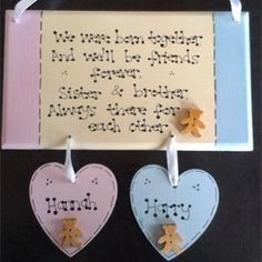 New Baby Twins Poem Gift