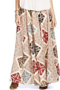 Denim & Supply Ralph Lauren Patchwork Maxi Skirt