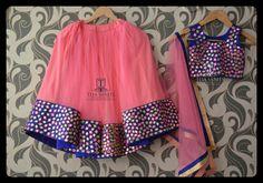 peach n purple lehanga Kids Frocks, Frocks For Girls, Little Girl Dresses, Baby Dresses, Kids Indian Wear, Kids Ethnic Wear, Kids Dress Wear, Kids Gown, Kids Wear
