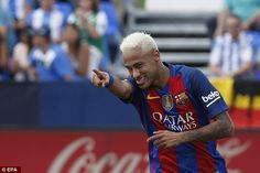 Neymar scored and won a penalty as Barcelona eased to a 5-1 success at the Butarque Stadium