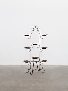 Self-Conscious Antique Painted Wrought Iron Jardiniere Plant Stand Antique Furniture