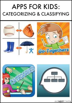 Speech apps for kids with autism or hyperlexia to practice classifying and…