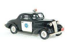 BROOKLIN MODELS 1937 Chevrolet Police Car BRK4X 1:43 Scale Diecast Model Cars SFBBC 1991 Limited Edition 1 of 300 ~IN ORIGINAL BOX
