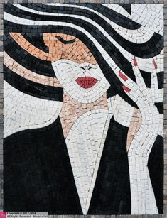 Marble Tile Mosaic Design, Custom Mosaic Tile Artwork, Contemporary Marble Mosaic Tiles Design - Mosaics Lab