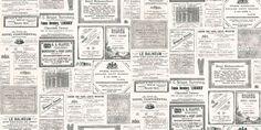 Vintage French Newspaper Wallpaper