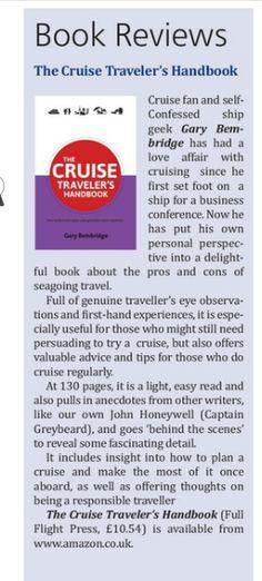"World of Cruising Magazine reviews ""The Cruise Traveler's Handbook"" http://viewer.zmags.com/publication/69f87262#/69f87262/10"