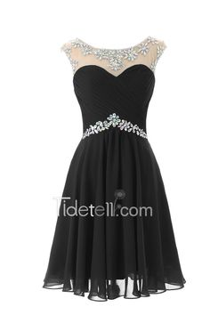 love this short black homecoming dress so much