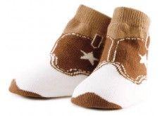 Cowboy baby socks!