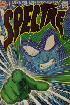 Another powerful DC Comics Spectre cover by Nick Cardy.