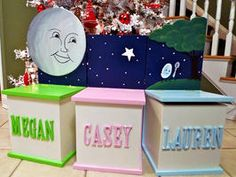 Personalized Toy Box Bench