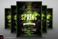 Spring Equinox Flyer Template by Thats Design Studio on Creative Market