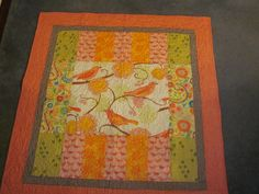 RMM Quilt:  Baby Quilt with large focus square in center surrounded by scrappy rectangles