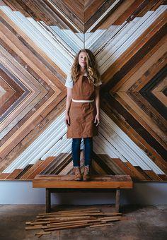Portrait of San Francisco wood installation artist Aleksandra Zee. Photo by Trinette Reed- Advertising Lifestyle Photographer in San Francisco, California