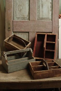 Vintage Wood Tool Caddy - WoodWorking Projects & Plans