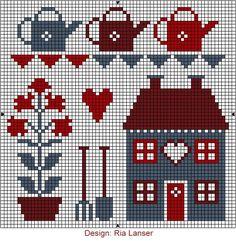 Kết quả hình ảnh cho cross stitch house