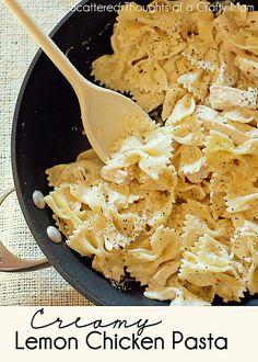Creamy Lemon Chicken Pasta--> make with gf pasta